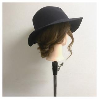 大人かわいい ミディアム 編み込み 大人女子 ヘアスタイルや髪型の写真・画像