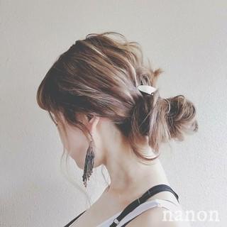 ナチュラル ロング ヘアアレンジ デート ヘアスタイルや髪型の写真・画像