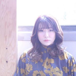 韓国ヘア シースルーバング フェミニン タンバルモリ ヘアスタイルや髪型の写真・画像