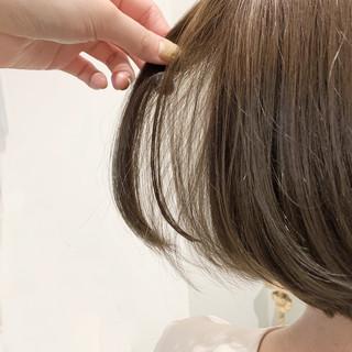 ミニボブ ショートボブ ナチュラル ボブ ヘアスタイルや髪型の写真・画像