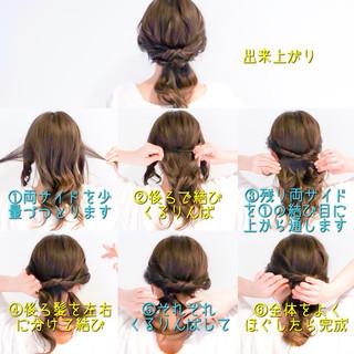 ロング 簡単ヘアアレンジ オフィス くるりんぱ ヘアスタイルや髪型の写真・画像 ヘアスタイルや髪型の写真・画像