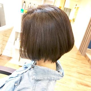 ナチュラル 黒髪 ショートボブ 似合わせ ヘアスタイルや髪型の写真・画像