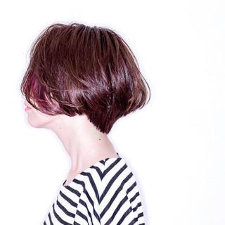 ボブ 外国人風 ショート ハイライト ヘアスタイルや髪型の写真・画像