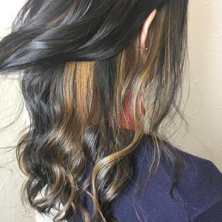 ダブルカラー ストリート ハイライト インナーカラー ヘアスタイルや髪型の写真・画像