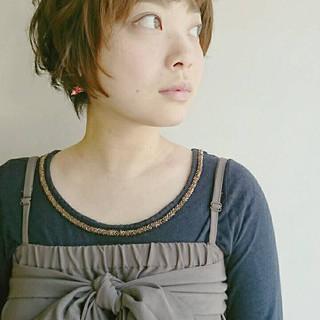 ショート マッシュ 似合わせ 小顔 ヘアスタイルや髪型の写真・画像