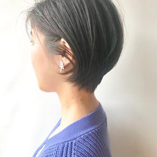 黒髪 フェミニン ショート デート ヘアスタイルや髪型の写真・画像 ヘアスタイルや髪型の写真・画像