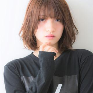 大人女子 デジタルパーマ ボブ ナチュラル ヘアスタイルや髪型の写真・画像