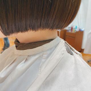 モテボブ 切りっぱなしボブ ボブ ミニボブ ヘアスタイルや髪型の写真・画像