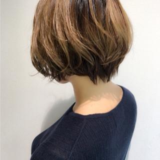 ボブ コントラストハイライト 外国人風カラー おしゃれさんと繋がりたい ヘアスタイルや髪型の写真・画像