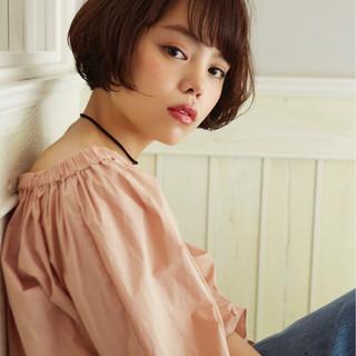 ガーリー ショート 色気 似合わせ ヘアスタイルや髪型の写真・画像