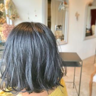 大人女子 切りっぱなし ボブ ナチュラル ヘアスタイルや髪型の写真・画像