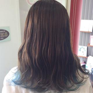 ガーリー セミロング グラデーションカラー ダブルカラー ヘアスタイルや髪型の写真・画像 ヘアスタイルや髪型の写真・画像