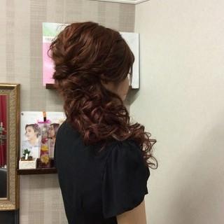 エレガント 上品 ロング 編み込み ヘアスタイルや髪型の写真・画像