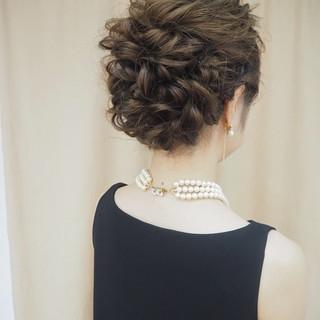 ロング 成人式 編み込み 結婚式 ヘアスタイルや髪型の写真・画像