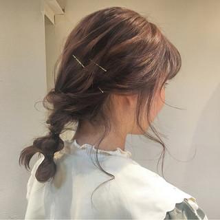 ロング ピンクアッシュ 冬 ガーリー ヘアスタイルや髪型の写真・画像