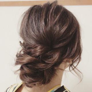 結婚式 女子会 ヘアアレンジ ロング ヘアスタイルや髪型の写真・画像