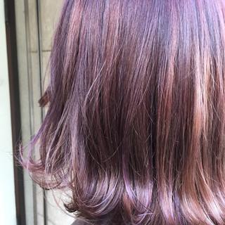 ストリート 外国人風 ボブ ピンク ヘアスタイルや髪型の写真・画像