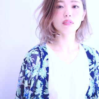大人かわいい 外国人風 ミディアム 前髪あり ヘアスタイルや髪型の写真・画像
