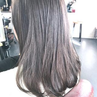ナチュラル 透明感 セミロング 透明感カラー ヘアスタイルや髪型の写真・画像