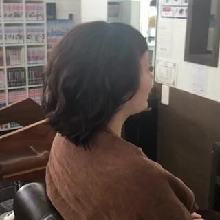 大人かわいい ゆるふわ ミディアム ナチュラル ヘアスタイルや髪型の写真・画像