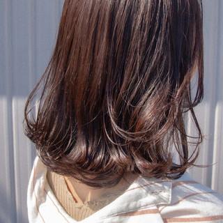 モテボブ 大人ミディアム セミウェット セミディ ヘアスタイルや髪型の写真・画像