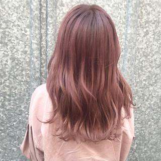 韓国ヘア 成人式 セミロング 韓国風ヘアー ヘアスタイルや髪型の写真・画像
