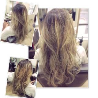 グラデーションカラー ストリート 外国人風 ロング ヘアスタイルや髪型の写真・画像 ヘアスタイルや髪型の写真・画像