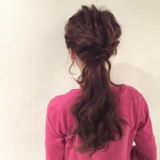 簡単ヘアアレンジ フェミニン ルーズ ヘアアレンジ ヘアスタイルや髪型の写真・画像