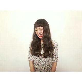 ロング ガーリー ピュア パーマ ヘアスタイルや髪型の写真・画像