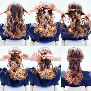 ヘアアレンジ 簡単ヘアアレンジ セルフヘアアレンジ エレガント ヘアスタイルや髪型の写真・画像