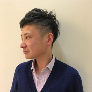 パーマ 黒髪 刈り上げ エレガント ヘアスタイルや髪型の写真・画像
