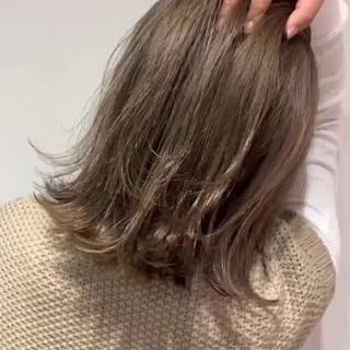 外国人風 切りっぱなしボブ 外国人風カラー ハイトーン ヘアスタイルや髪型の写真・画像