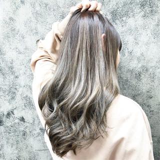 外国人風カラー ストリート セミロング 外国人風 ヘアスタイルや髪型の写真・画像