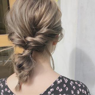 スポーツ ガーリー ミディアム ヘアアレンジ ヘアスタイルや髪型の写真・画像