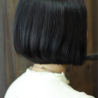 ナチュラル ワンカール 黒髪 大人女子 ヘアスタイルや髪型の写真・画像