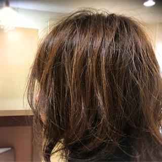 外国人風 ストリート ミディアム フェミニン ヘアスタイルや髪型の写真・画像