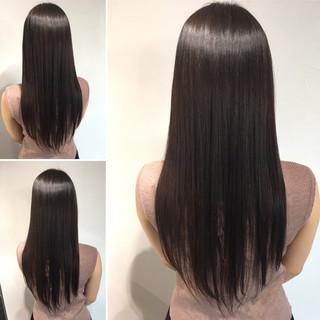 髪質改善カラー ロング 最新トリートメント エレガント ヘアスタイルや髪型の写真・画像