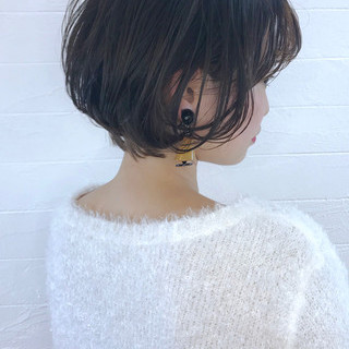 ショートヘア ミニボブ エレガント ボブ ヘアスタイルや髪型の写真・画像