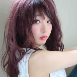 セミロング モテ髪 ガーリー ナチュラル ヘアスタイルや髪型の写真・画像