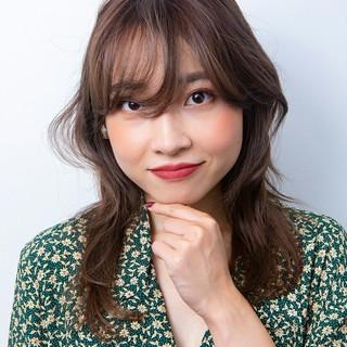 韓国ヘア 韓国風ヘアー パーマ ロング ヘアスタイルや髪型の写真・画像