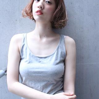 外国人風 ボブ ゆるふわ パーマ ヘアスタイルや髪型の写真・画像