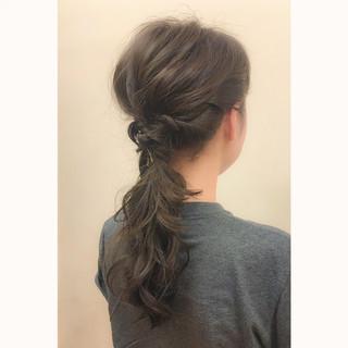 ヘアアレンジ 波ウェーブ ハーフアップ 簡単ヘアアレンジ ヘアスタイルや髪型の写真・画像
