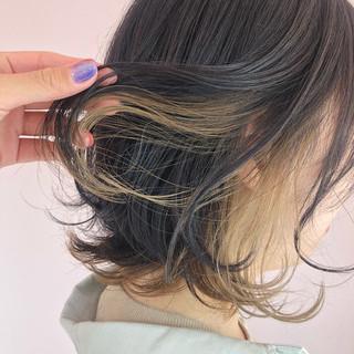 ボブ 透明感 ショートヘア ブリーチ ヘアスタイルや髪型の写真・画像