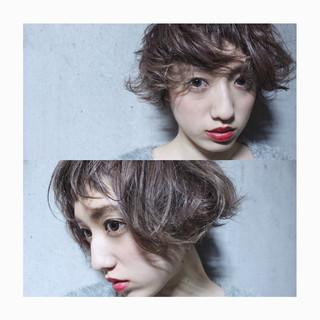 外国人風 ガーリー ショート 小顔 ヘアスタイルや髪型の写真・画像