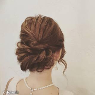 セミロング 大人かわいい 結婚式 ゆるふわ ヘアスタイルや髪型の写真・画像 ヘアスタイルや髪型の写真・画像
