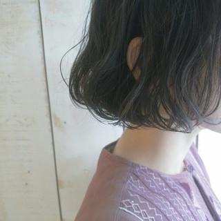 外国人風 黒髪 前髪あり ボブ ヘアスタイルや髪型の写真・画像
