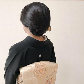 セミロング 上品 和装 結婚式 ヘアスタイルや髪型の写真・画像 | Moriyama Mami / 福岡天神ヘアセット・着付け専門店【Three-keys】