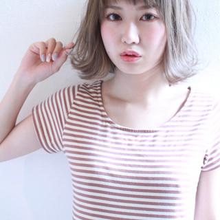 イルミナカラー 大人かわいい 透明感 ガーリー ヘアスタイルや髪型の写真・画像