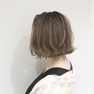 モード ゆるふわ 外ハネ ボブ ヘアスタイルや髪型の写真・画像