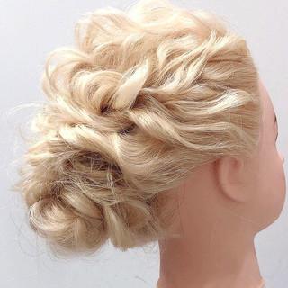 ヘアアレンジ フェミニン ブライダル ヘアセット ヘアスタイルや髪型の写真・画像